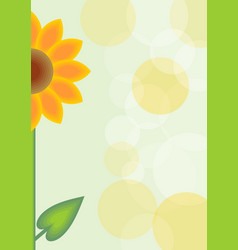 cute spring background with orange flower and vector image