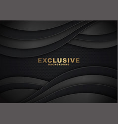 dark abstract wave background vector image