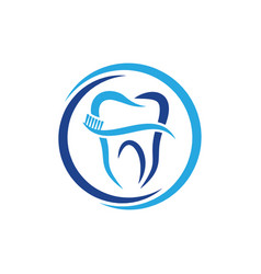 dental icon design template isolated vector image