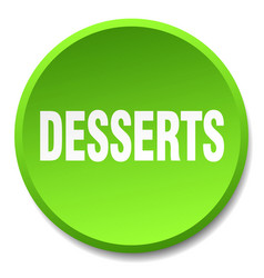 Desserts green round flat isolated push button vector