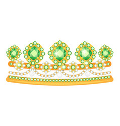 diadem icon beautiful jewelry tiara and vector image