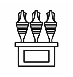 Egyptian vases icon outline style vector image