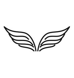 Fairy wings icon outline style vector