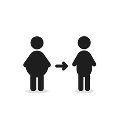 fat man turns into thin figure vector image