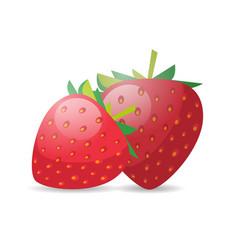 fresh juicy strawberry icon tasty ripe fruit vector image