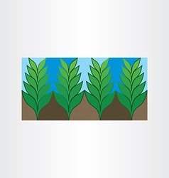 Garden plant icon background vector