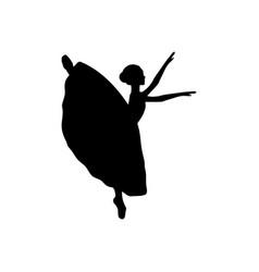 Girl ballerina silhouette dance ballet vector