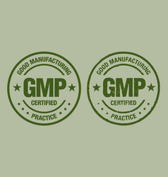 gmp good manufacturing practice vintage grunge vector image