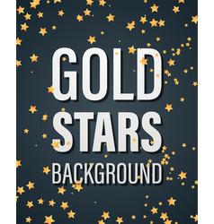 gold stars bakground vector image