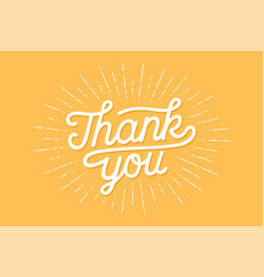 hand lettering thank you vector image