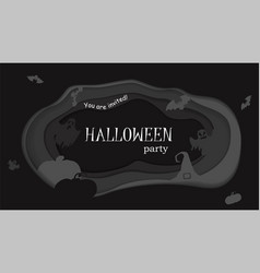 happy halloween poster design template vector image