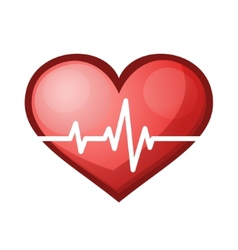Heart beat rate icon healthcare vector image