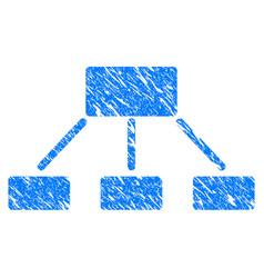 hierarchy grunge icon vector image