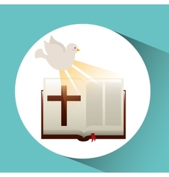 holy spirit bible icon design vector image