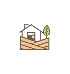 home landscape village logo vector image