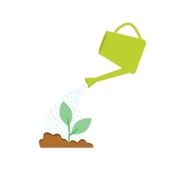 Image of watering plants with can vector image