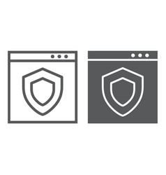 internet security line and glyph icon safety and vector image