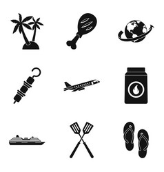 Interval icons set simple style vector