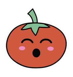 Kawaii cute funny tomato vegetable vector