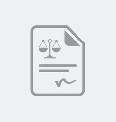 legal document and signature vector image
