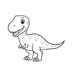 little tyrannosaurus cartoon bw vector image