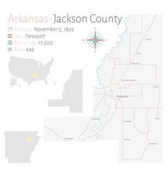 Map jackson county in arkansas vector