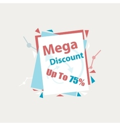 Mega Discount Discount sticker Offer vector image