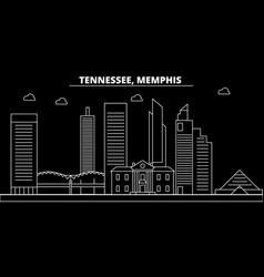 Memphis silhouette skyline usa - memphis vector