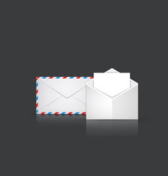 modern envelope or mail set on gray vector image
