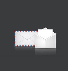 modern envelope or mail set on gray vector image