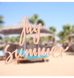 My Summer background vector image