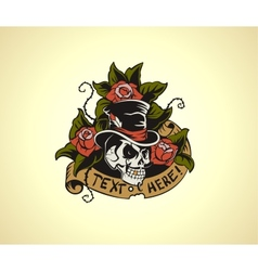 Old School Tattoo Skull vector image