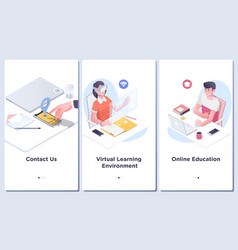 online education conceptmodern user interface ux vector image