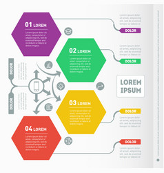 Part of the report with icons set infographic of vector