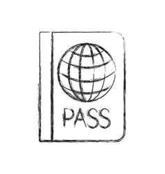 Passport document travel icon vector