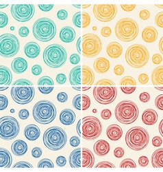 pattern abstract line circles vector image