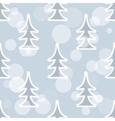 Pine tree pattern vector