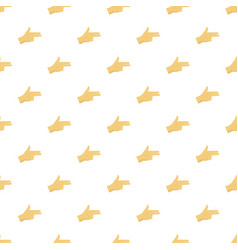 pistol hand sign pattern seamless vector image