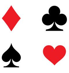 playing card symbols set vector image