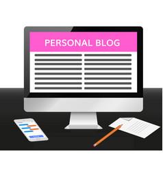 Portfolio website vector