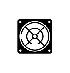Power supply black icon on white background vector