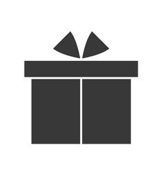 Present box merry christmas icon set solid design vector