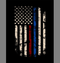 Red and blue line usa flag design template vector