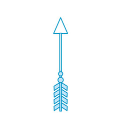 Rustic arrow with ornamental design vector