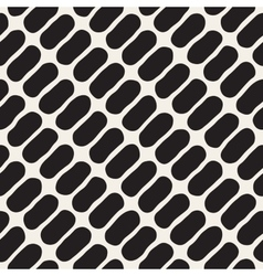 Seamless Black And White Jumble Circles vector image