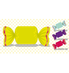 Set candy colored squares vector