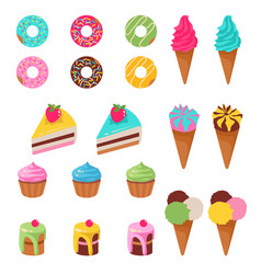 sweets dessert isolated on vector image