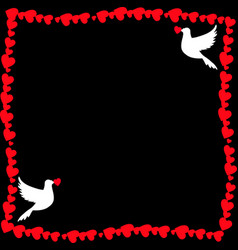 Template with doves and copy space for wedding vector