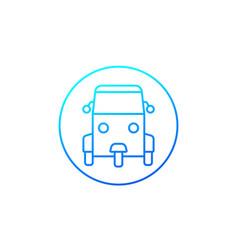 Tuk icon line vector