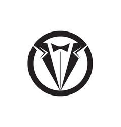Tuxedo man logo and symbols black icons template vector